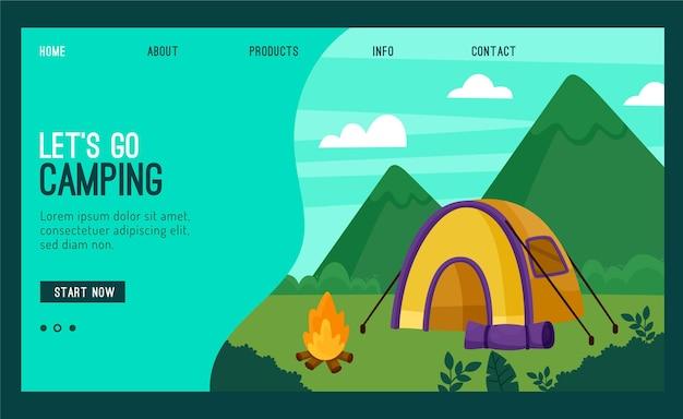 Camping bestemmingspagina sjabloon