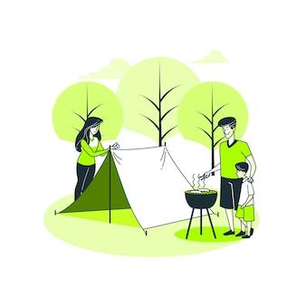 Camping concept illustratie