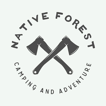 Camping logo, badge