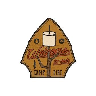 Camping logo embleem.