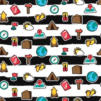 Camping naadloos patroon