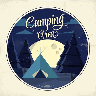 Camping ontwerp