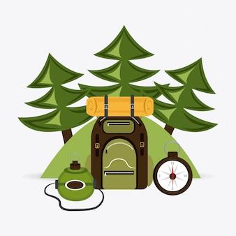Camping ontwerp.