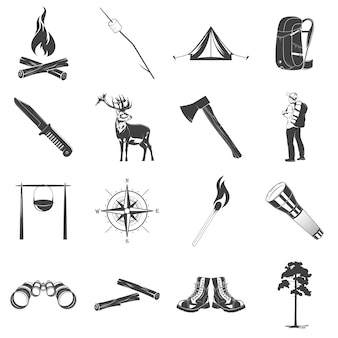 Camping pictogrammen