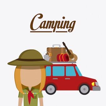 Camping reizen en vakanties.