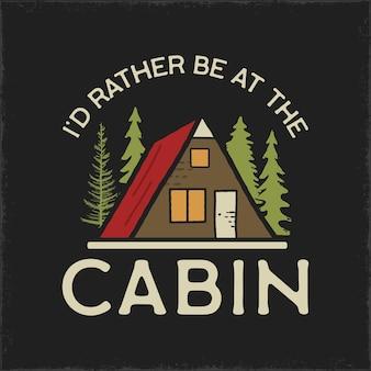 Camping tent illustratie