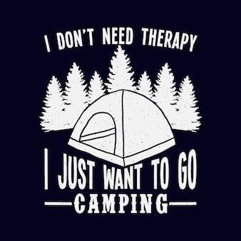 Camping typografie citaten