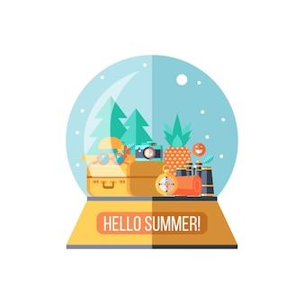 Camping. zomer openluchtrecreatie. vector illustratie.