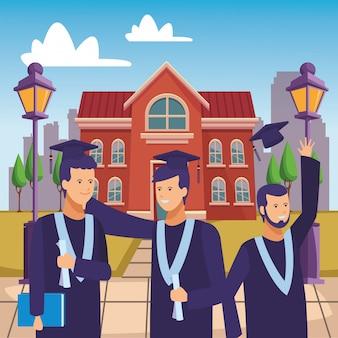 Campus afstuderen ceremonie mensen