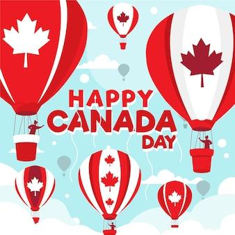 Canada dag achtergrond Gratis Vector