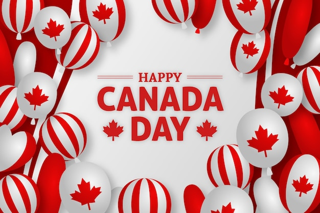 Canada dag achtergrondontwerp