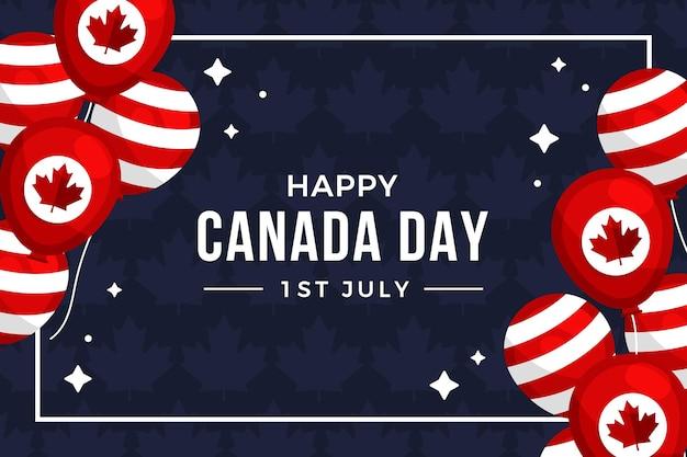 Canada dag ballonnen achtergrond
