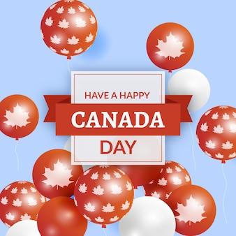 Canada dag ballonnen achtergrondontwerp