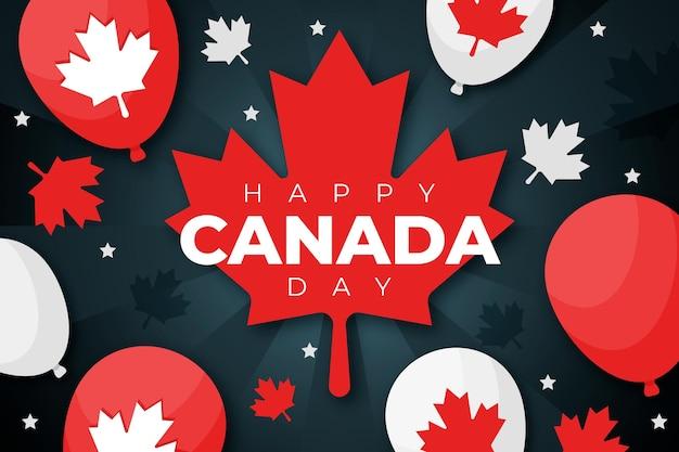 Canada dag ballonnen behang