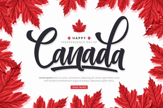 Canada dag belettering achtergrond