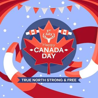 Canada dag illustratie