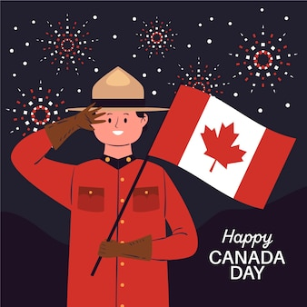 Canada dag in platte ontwerpconcept