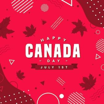 Canada dag met stippen en lijnen