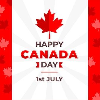Canada dag platte ontwerp achtergrond