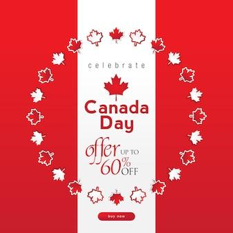 Canada dag verkoop achtergrond