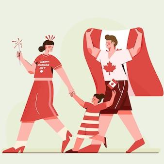 Canada dag viering illustratie
