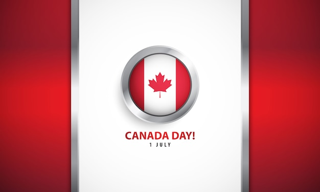 Canada day met realistische achtergrond
