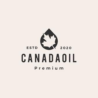 Canada olie vintage logo Premium Vector