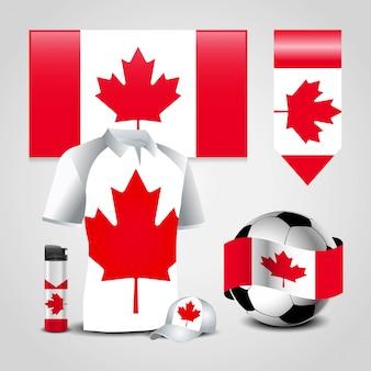 Canada vlag ontwerp vector