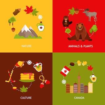 Canada vlakke elementen samenstelling set