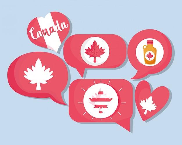 Canadese communicatie bubbels ontwerp