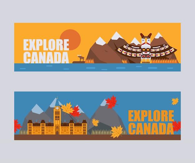 Canadese symbolen en bezienswaardigheden