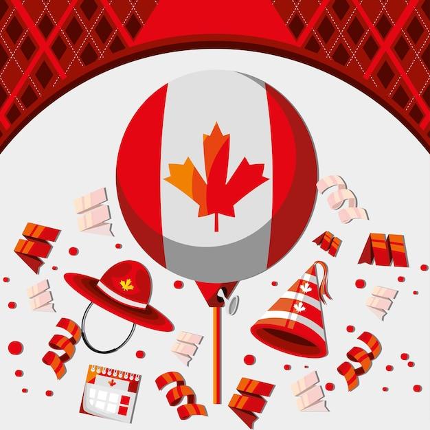 Canadese vrijheidsevenement patriottische viering
