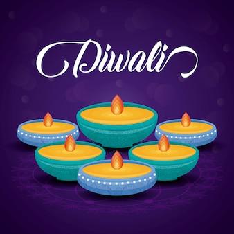 Candles diwali festival