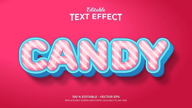 Candy 3d-stijl bewerkbare teksteffecten