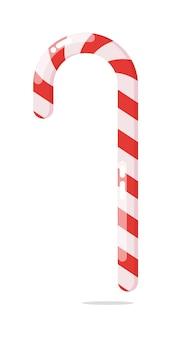 Candy cane kerstdecoratie geïsoleerd op een witte achtergrond