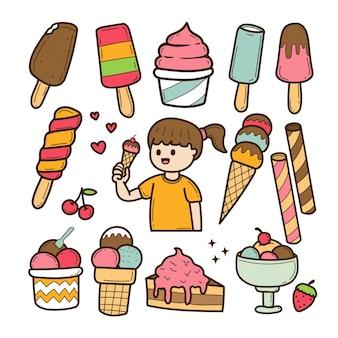 Candy pictogrammen hand getrokken doodle
