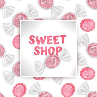 Candy sweet shop sjabloon