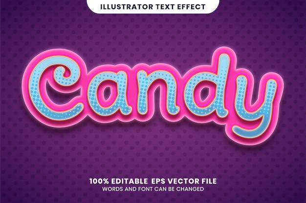 Candy teksteffect