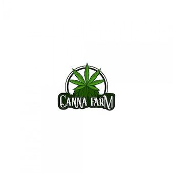 Cannabis boerderij logo