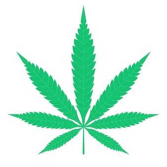Cannabis groen blad clipart pictogram cbd farmacologie medische juridische hasj olie biologisch concept