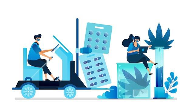 Cannabis illustratie.
