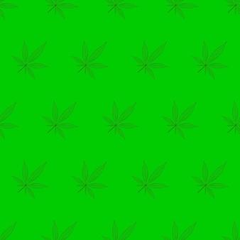 Cannabis laat patroon op groene achtergrond