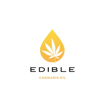 Cannabis olie logo pictogram