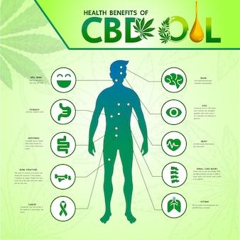 Cannabis voor medische illustratie.