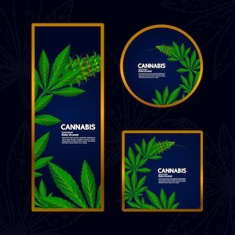 Cannabisachtergrond voor product of pakket vectorillustratie