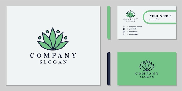 Cannabisblad-logo-ontwerp voor zakelijk en medisch