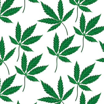 Cannabisbladpatroon medicinale olie cbd