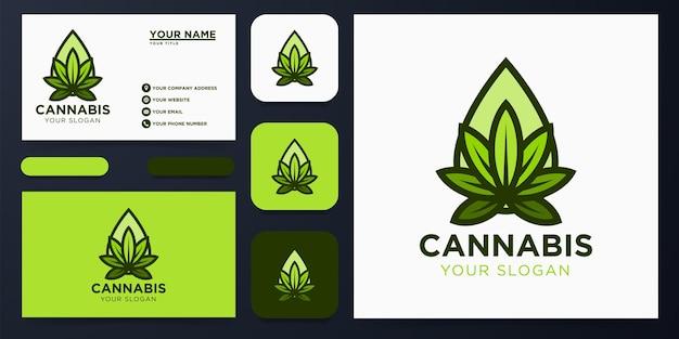Cannabisolie logo-ontwerp