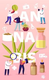 Cannabisrecept voor persoonlijk gebruik illustratie.