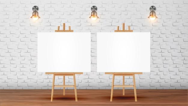 Canvas op statief voor collectieve tekening